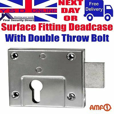 Gate/Shed Euro Profile Deadcase Rim Deadlock Double Throw Zinc Plated AMF 49Z