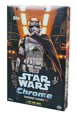 2016 Topps Star Wars The Force Awakens Chrome Hobby Box