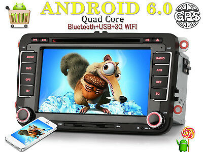 "7"" Autoradio Navigation Android 4.4.4 MP3 für VW Golf 6 VW Polo V 6R SEAT Altea"