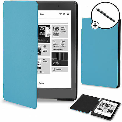 Forefront Cases® Blue Shell Smart Case Cover Kobo Aura Edition 2 Stylus