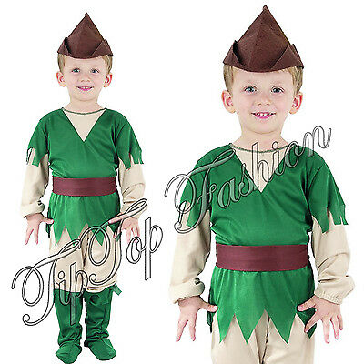 New Toddler Robin Hood Peter Pan Costume Boys Book Week Day Fancy Dress Outfit