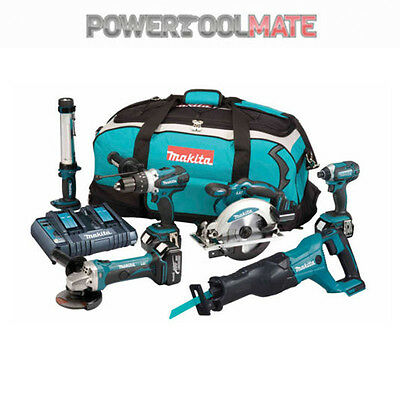 Makita DLX6044PT 18v LXT 6 Piece Kit c/w 3 x 5.0Ah Batteries, Charger ex DLX6000