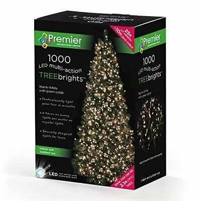 Premier 25M TREEBRIGHTS 1000 Multi- Action LEDs WARM WHITE Timer Function Green