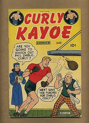 Curly Kayoe Comics #2 (G) United Features 1947? Leff Fritzi Ritz Boxing (c#11225