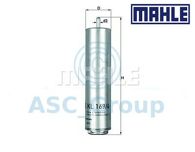 Genuine MAHLE Replacement Engine In-Line Fuel Filter KL 169/4D