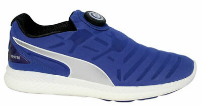 Puma Ignite Disc Slip On Running Shoes Mens Trainers Navy 188616 02 D29