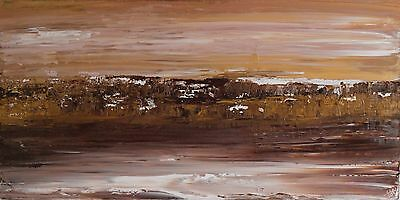ABSTRACT ORIGINAL ACRYLIC CONTEMPORARY LANDSCAPE PAINTING 100x50cm on box canvas