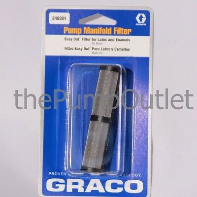 GRACO 246384 Easy Out Pump Manifold Filter 60 Mesh for Latex & Enamels OEM