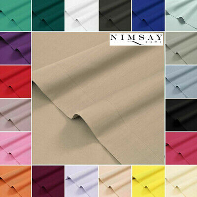 Nimsay Home Plain Dyed Flat /Top Bed Sheet Sheets Single Double Super King