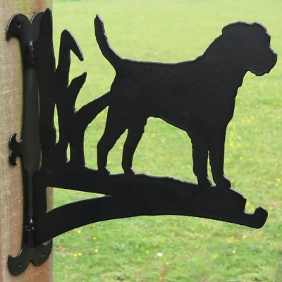 Border Terrier Hanging Basket Bracket
