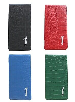 Mens Crocodile Leather Scorecard & Yardage Book Holder by Mercia Golf