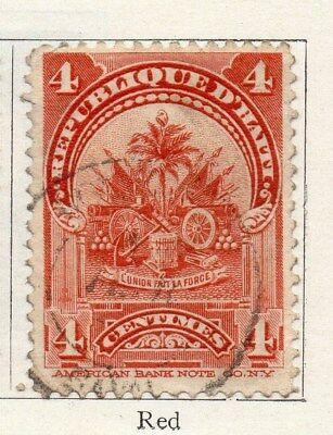 Haiti 1898-1900 Early Issue Fine Used 4c. 100904