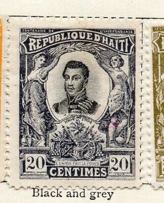 Haiti 1904 Early Issue Fine Mint Hinged 20c. 100911