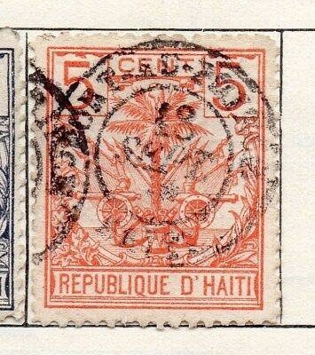 Haiti 1891 Early Issue Fine Used 5c. 100928