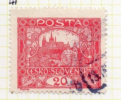 Czechoslovakia 1919-20 Early Issue Fine Used 20h. 101015