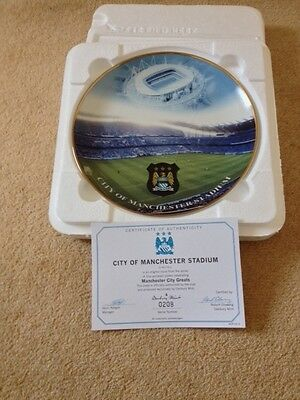 Manchester City - City Of Manchester Stadium - Danbury Mint Plate