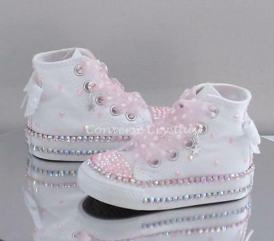 Girls Custom AB Crystal *Bling* Converse Infant Sizes 2-6