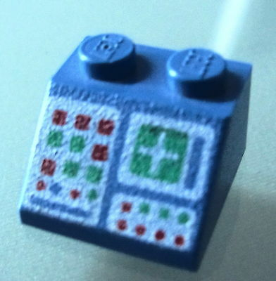 LEGO 3039p012 @@ Slope 45 2 x 2 with Headlights Pattern @@ 2147 6565