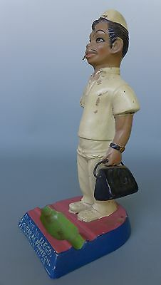 "Vintage Mexican ceramic 1940s CANTINFLAS as doctor ash tray figure 11 1/4"" tall"