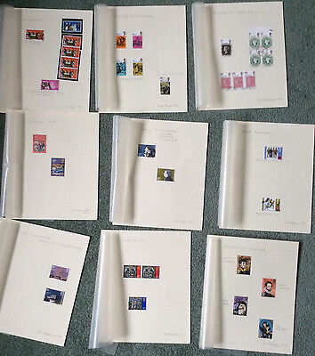 Stamp album-32 page Frank Godden KENT with 100+ commemorative GB stamps 1962-74