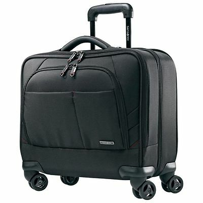 Samsonite Xenon 2 Spinner Mobile Office Wheeled Laptop Briefcase Carry On Black