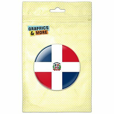 The Dominican Republic National Country Flag Pinback Button Pin Badge