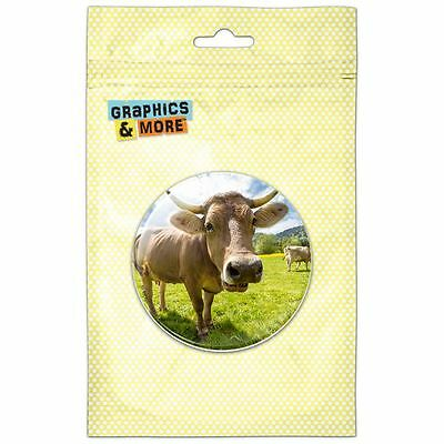 Cow Funny Face Pinback Button Pin Badge