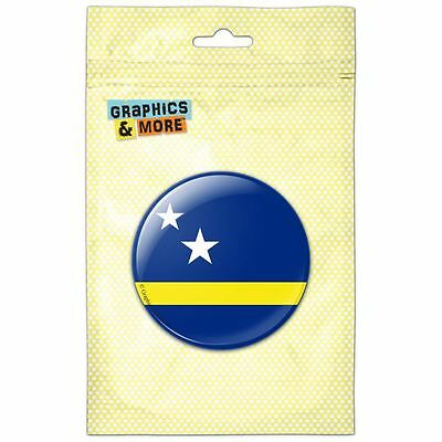 Curacao National Country Flag Pinback Button Pin Badge