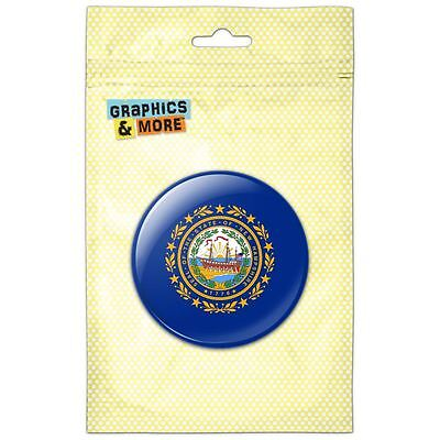 New Hampshire State Flag Pinback Button Pin Badge