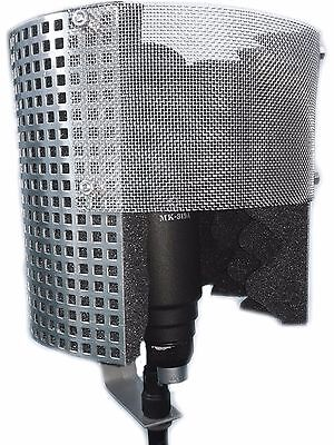 Microphone Screen (with Metal Pop Filter) Isolation Reflection Filter Shield