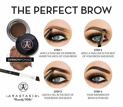 Anastasia Beverly Hills Dipbrow Pomade Eyebrow Definer Gel + FREE Due Brush #12