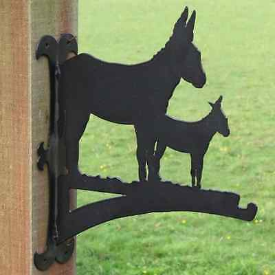 Donkey and Foal Hanging Basket Bracket