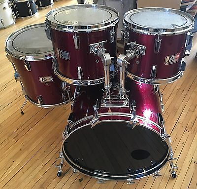 Vintage Rogers R-380 4pc Drum Kit Shell Pack Red