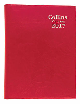 2017 Collins Vanessa Diary Diaries B7R Pocket Week To Open - Red