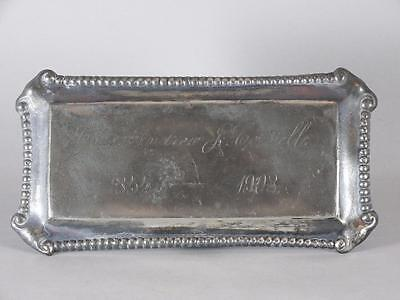 ANTIQUE SILVERPLATED COFFIN PLATE c.1908~ 53 YEAR OLD MAN~ CASKET PLAQUE
