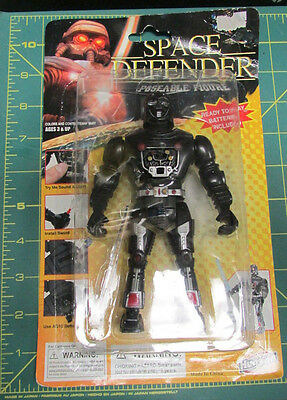 Unopened Space Defender with light up sword - New In Package posable figure