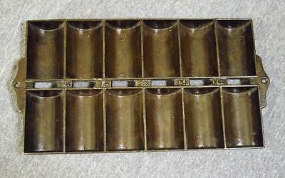 Antique Cast Iron N.E.S. No. 11 New England Style Gem French Roll Pan Griswold?