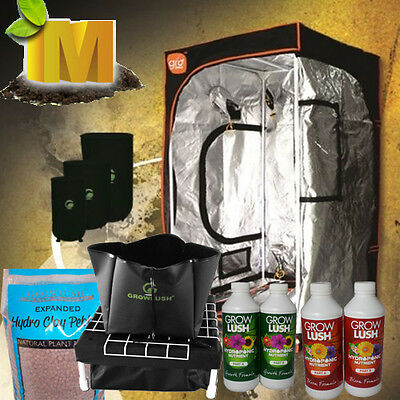 Watering System Grow Tent Clay Balls Nutrients Hydroponics Complete Setup Kit
