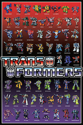 TRANSFORMERS CAST POSTER (91x61cm)  PICTURE PRINT NEW ART