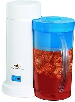 NEW Mr. Coffee 2-Quart Iced Tea Maker for Loose or Bagged Tea Blue Xmas Gift