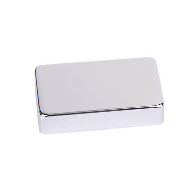 Chrome Plated Metal Humbucker Pickup Cover with No Holes fits 50mm 52mm Pickup