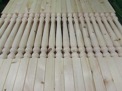 Pine Colonial Edwardian 41mm stair spindles Pack of 16 ED90 (slight seconds )