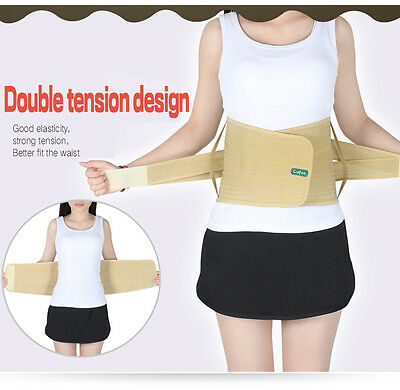 Lumbar Lower Waist Back Support Brace Belt strap pain relief therapy support