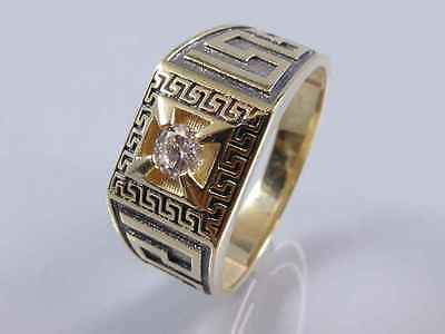 Gold Ring Versace Muster 585er Gelbgold 0355