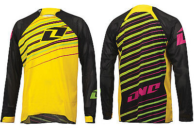 ONE INDUSTRIES VAPOR STREAKER DH BIKE YELLOW JERSEY mtb motocross mx cycle shirt