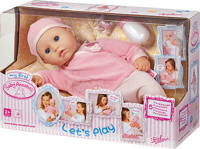My First Baby Annabell Let's Play Doll - Brand New - Fast Postage