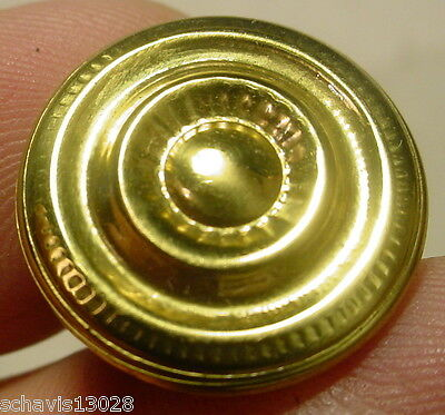 Bright Brass 3/4 inch Diameter Cabinet Drawer Knob Handle Colonial Fine Detail