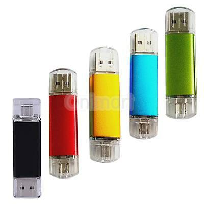 Doble Usb Disco Memoria Flash Pen Drive Usb 2.0 Otg 64Gb High-Speed Para Android