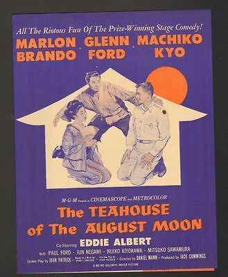 1956 Movie Color Herald Advertisement The Teahouse of the August Moon Brando