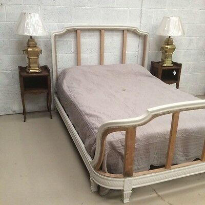 French painted kingsize bed for upholstery   .  Ref a13607